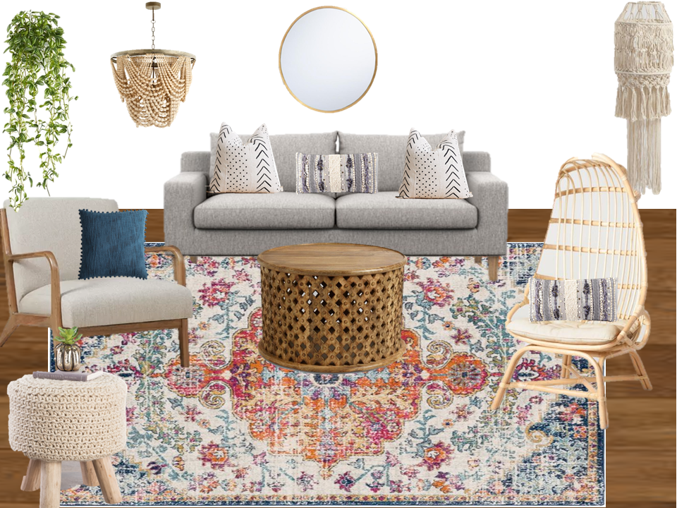 Boho Style Home Shop The Look Boho Living Room Space Jade Sage Llc